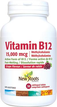 Vitamin B12 Methylcobalamin 15mg Sublingual Tablet