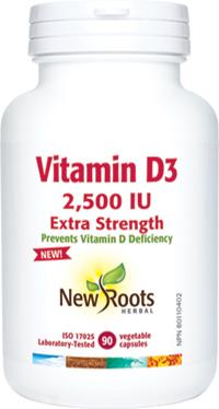 Vitamin D3 2,500IU Extra Strength (capsules)