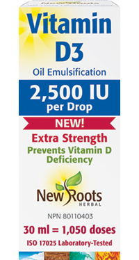 Vitamin D3 2,500IU Extra Strength (liquid)