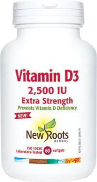 Vitamin D3 2,500IU Extra Strength (softgels)