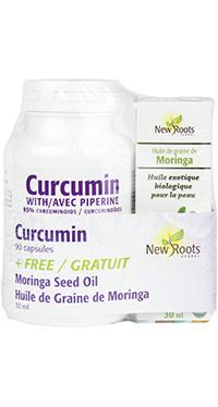 Curcumin 500 mg + FREE Organic Moringa Seed Oil 30ml